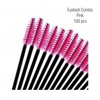 Eyelash combs pink 100 pc