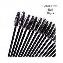 Eyelash combs, black 10 pc