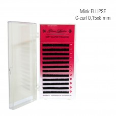 Mink ELLIPSE 0,15 x 8 mm, C-Curl