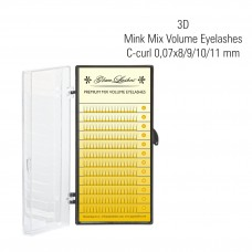 3D Mink Volume Eyelashes C-Curl