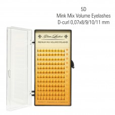 5D Mink Volume Eyelashes D-Curl