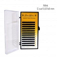 Mink 0,07 x 8 mm, C-Curl