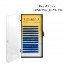 Blue MIX D-Curl 0,07x8/9/10/11/12/13 mm
