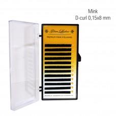 Mink 0,15 x 8 mm, D-Curl