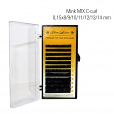 Mink MIX C-Curl 0,15 x 8/9/10/11/12/13/14 mm