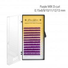 Purple MIX D-Curl 0,15 x 8/9/10/11/12/13 mm