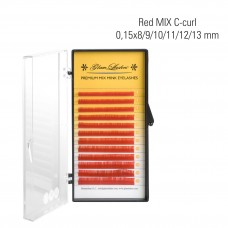 Red MIX C-Curl 0,15 x 8/9/10/11/12/13 mm