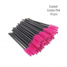 Eyelash combs pink 10 pc