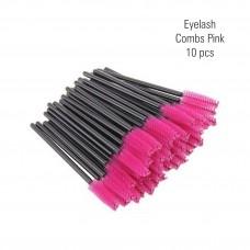 Eyelash combs pink 10 pc