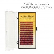 Coctail random lashes MIX C-Curl 0,15 x 8/9/10/11/12/13 mm
