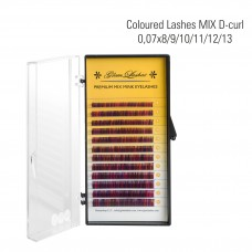 Coctail random eyelashes MIX D- Curl 0,07 x 8/9/10/11/12/13 mm