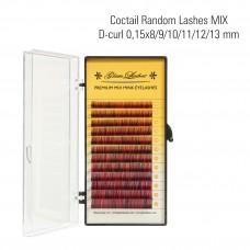 Coctail random eyelashes MIX D- Curl 0,15 x 8/9/10/11/12/13 mm