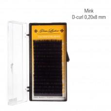 Mink 0,20 x 8 mm, J-Curl