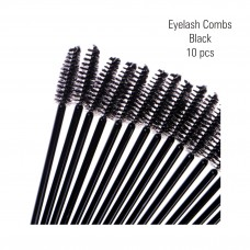 Eyelash combs, black 10 pc