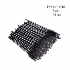 Eyelash combs black 100 pc