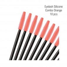 Silicone Eyelash Combs Orange 10 pcs.