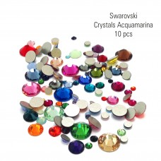 Swarovski Crystals (Acquamarina) 10 pc